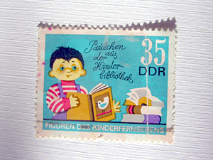 Briefmarke: Paulchen aus der Kinderbibliothek